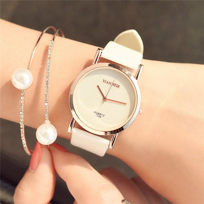 韓國手錶女中學生 簡約超薄黑白糖果色 潮流 休閒石英表