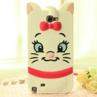迪士尼瑪莉貓可愛人物立體大頭矽膠保護套手機殼TPU 保護殼三星Samsung S4