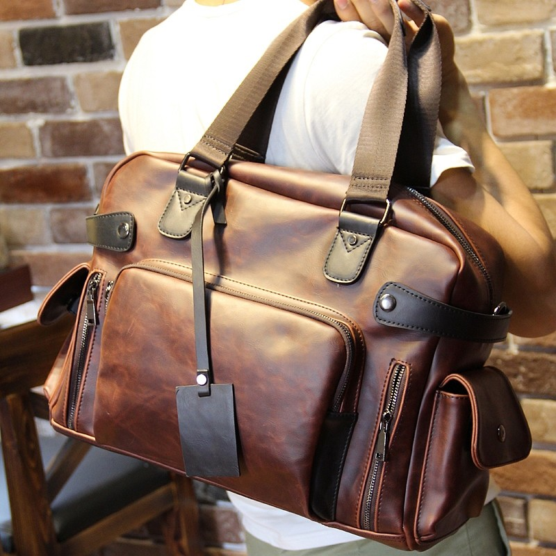 2017 年男包包 斜跨包單肩包旅行包潮包手提包男款休閒包大包