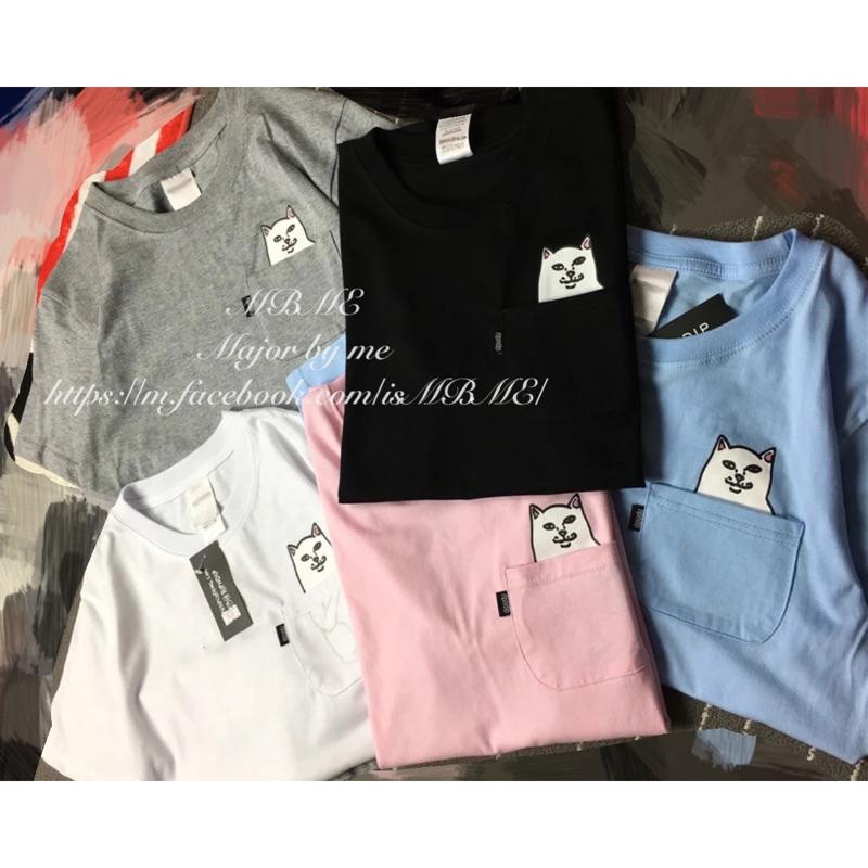 Korea 中指貓賤貓賊貓口袋貓雙面嘻哈潮牌潮T shirt 上衣大學tee
