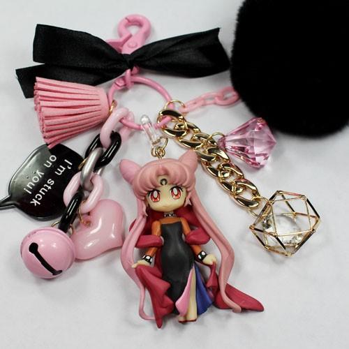 代替月亮懲罰你❤️童年的回憶美少女戰士黑暗淑女小小兔冥王星鑰匙圈吊飾