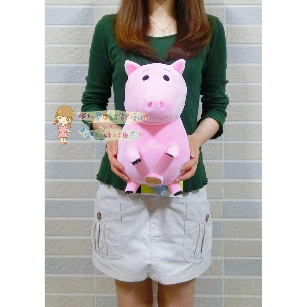 迪士尼火腿豬娃娃高27 公分火腿豬存錢筒撲滿玩偶邪惡豬排博士小豬絨毛娃娃抱枕玩具總動員