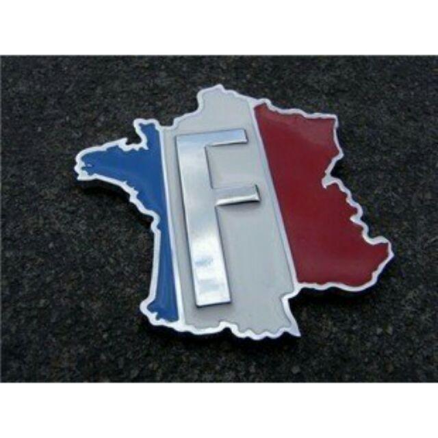 法國國旗地圖立體金屬貼PEUGEOT 雷諾