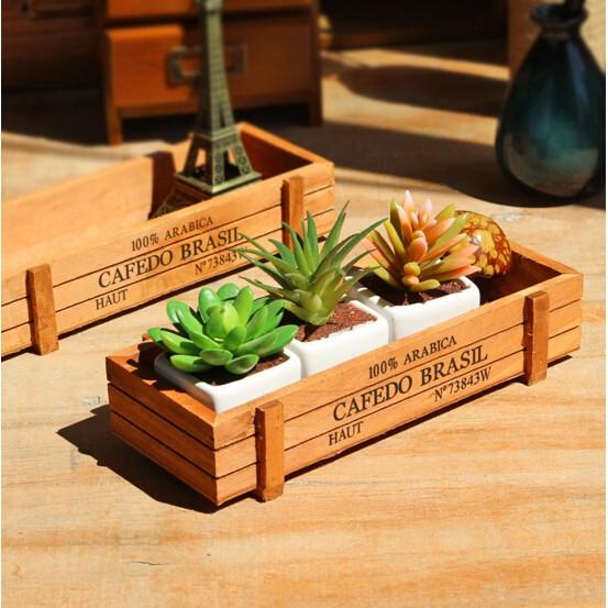 ~MIMI SHOP ~復古長方形花盆盒復古花盆盒盆栽盒長方形古典風格古典盆栽悠哉時光美好