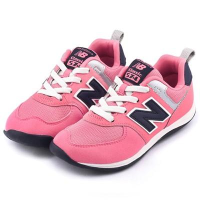 ~正品 1750 ~New Balance ~中大童 574 復古 鞋KS574MPP 粉