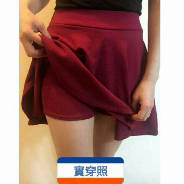 均碼百搭防走光褲裙素色鬆緊褲裙百搭顯瘦短裙半身裙A 字裙啦啦隊裙蓬蓬裙迷你裙