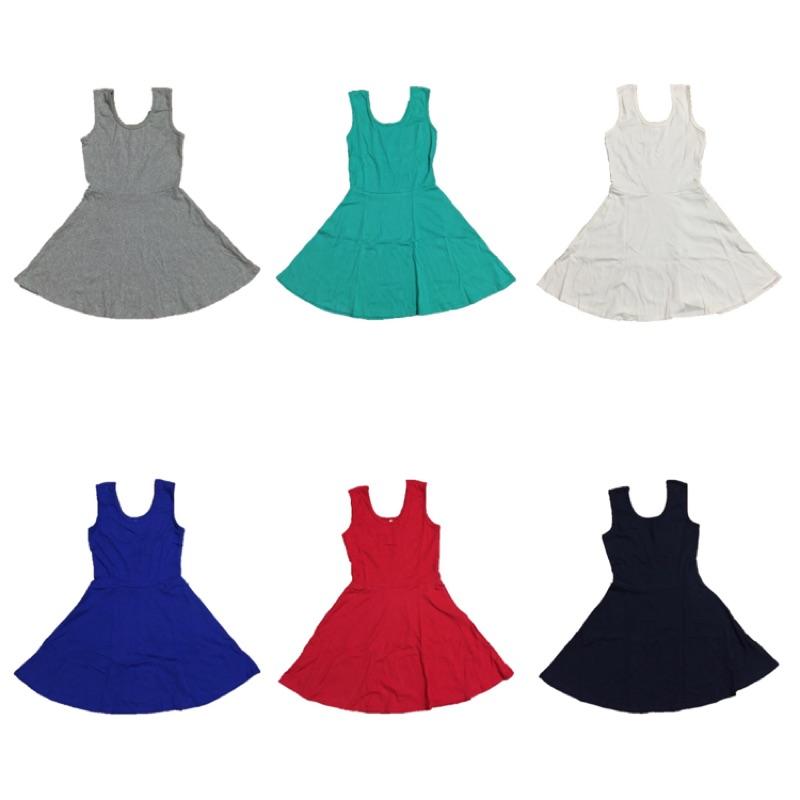 [無敵百搭]背心裙超彈性背心洋裝連身裙素色裙素色洋裝素色連身裙灰色洋裝灰色連身裙Tiffa