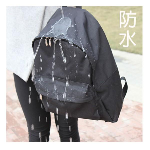 日韓連線無印簡約尼龍防水雙肩包良品包包男女純色包 背包學生書包旅行包電腦包後背包