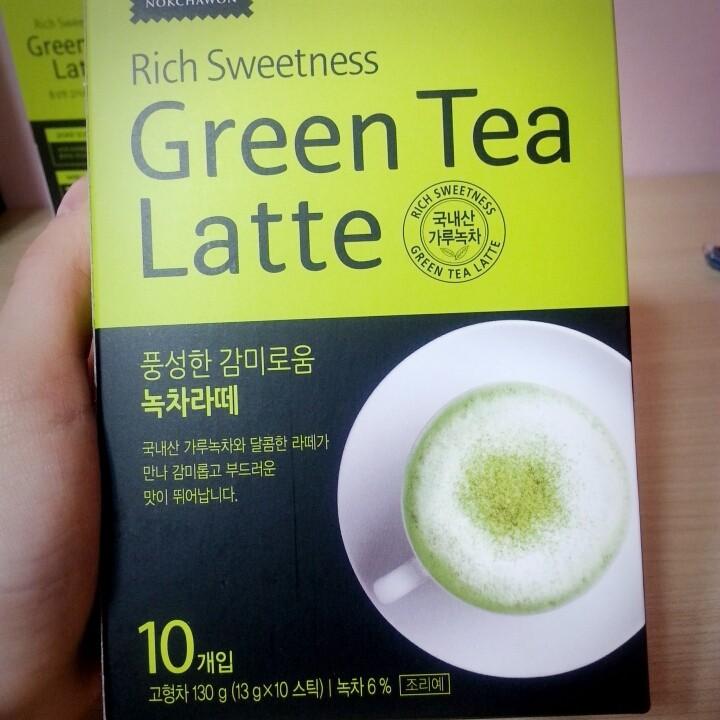 119 Green Tea Latte 抹茶拿鐵沖泡包10 入盒裝韓國