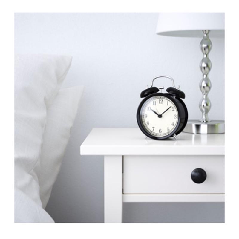 ~IKEA 宜家 DEKAD 復古型黑色指針式鬧鐘時鐘~
