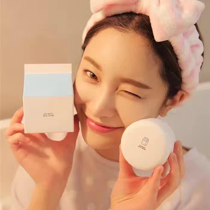 3CE 牛奶素顏霜Eunhye House 水光美肌懶人面霜保溼美白提亮膚色