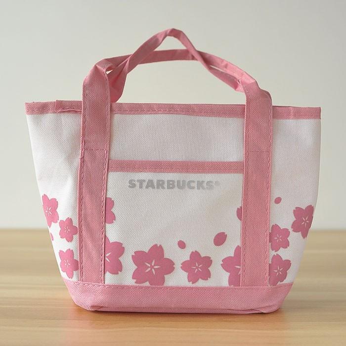 星巴克甜美粉色 限定絢麗櫻花帆布便當袋小拎袋手提袋
