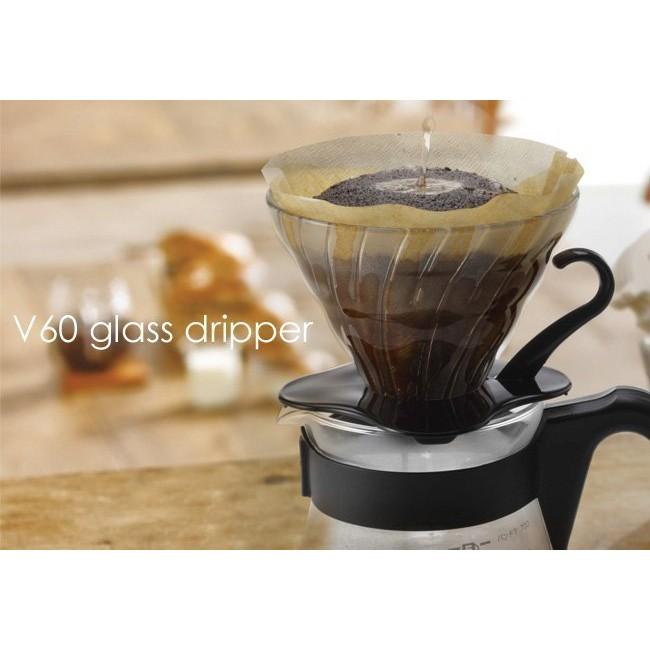 咖啡雜貨OOOH Coffee Hario VDG 02 玻璃濾杯V60 黑白紅色VDG