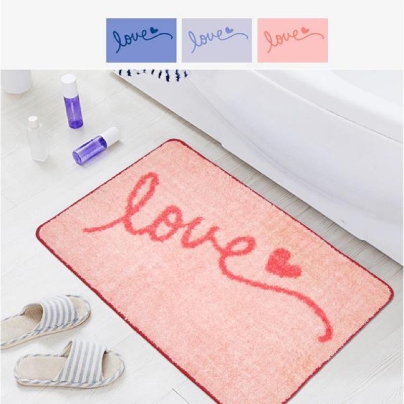 3 色love 款北歐風簡約風格吸水防滑腳踏墊地墊浴室用品入門墊腳墊地毯Zakka 清新
