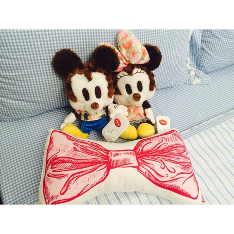 東京迪士尼夏威夷風米奇米妮玩偶限定一組兩入情侶裝 海灘米老鼠情侶錯過可惜