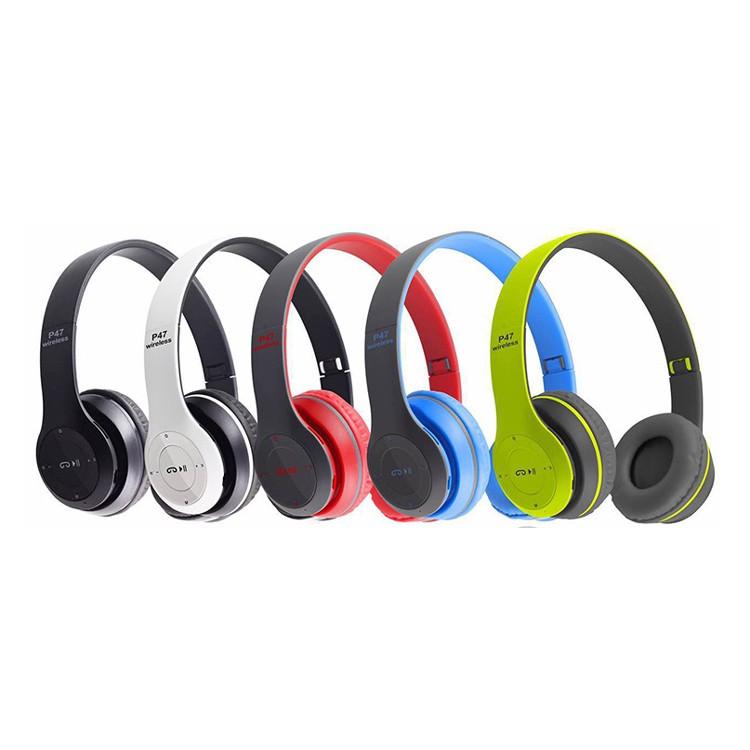 P47 無線藍芽耳機摺疊耳罩式頭戴式TF 插卡立體聲 重低音