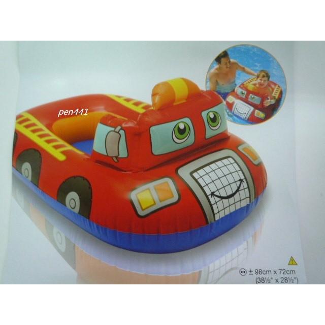 玩樂 美國INTEX 59380 消防車坐式充氣游泳圈嬰兒坐圈兒童浮圈有手把兒童夏天玩水游