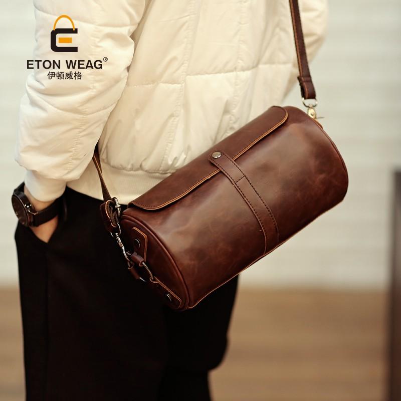 單肩包錢包背包原創 單肩斜挎包圓桶包男女挎包胸包皮包小包 便捷手機包