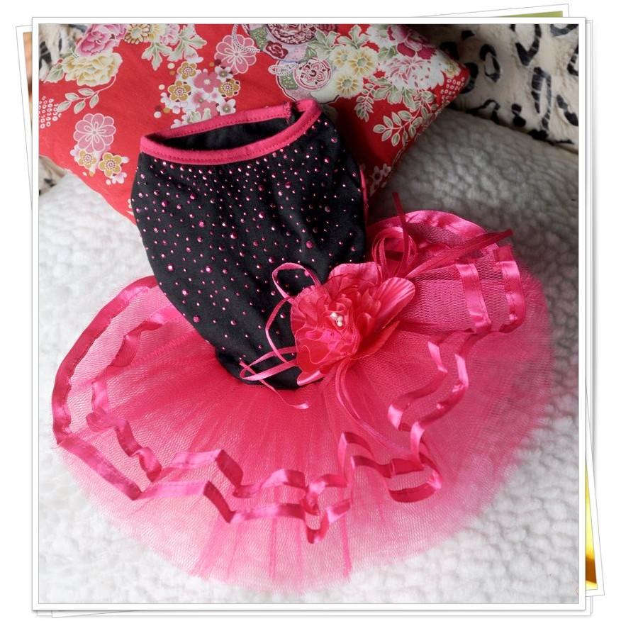 可露寵物狗狗衣服春夏裝野玫瑰性感小貓狗狗婚紗連衣裙泰迪貴賓寵物衣服寵物用品