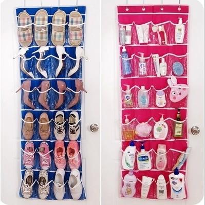 L ~24 格門後掛袋~可掛式分類收納袋4 掛鉤更穩固衣櫃內衣掛袋分類收藏內褲收納襪子收納