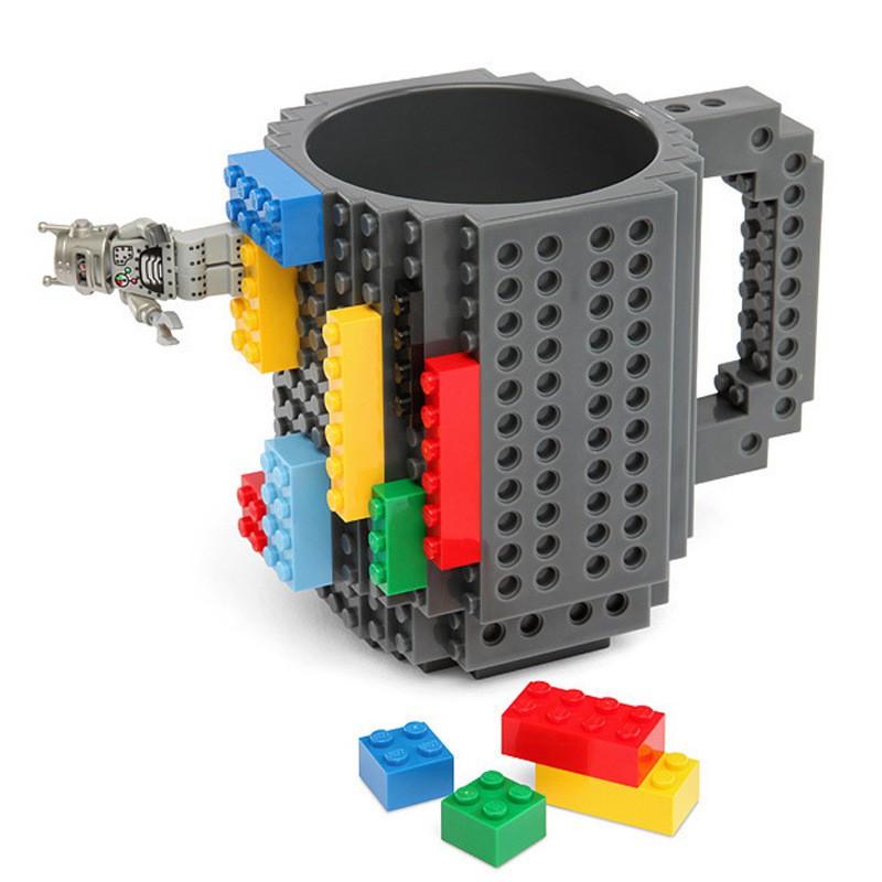 OCT12 7  DIY 樂高積木杯拼裝杯DIY 組裝杯咖啡杯馬克杯拼圖積木 杯