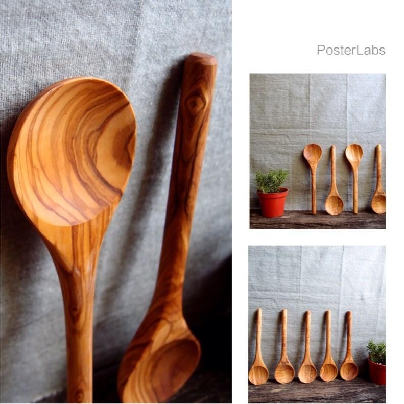 無漆橄欖木料理匙木匙攪拌匙3 種規格