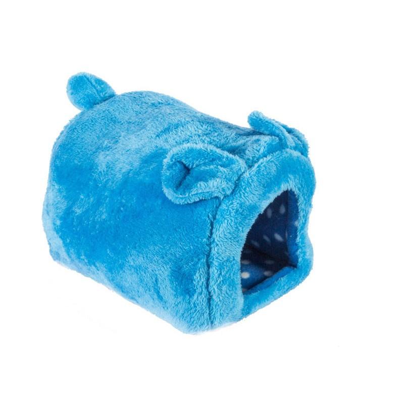 幸福2 次方兔子形狀寵物窩寵物床貓窩狗窩貓床狗床睡墊軟墊小號北極絨–水藍PT 31767