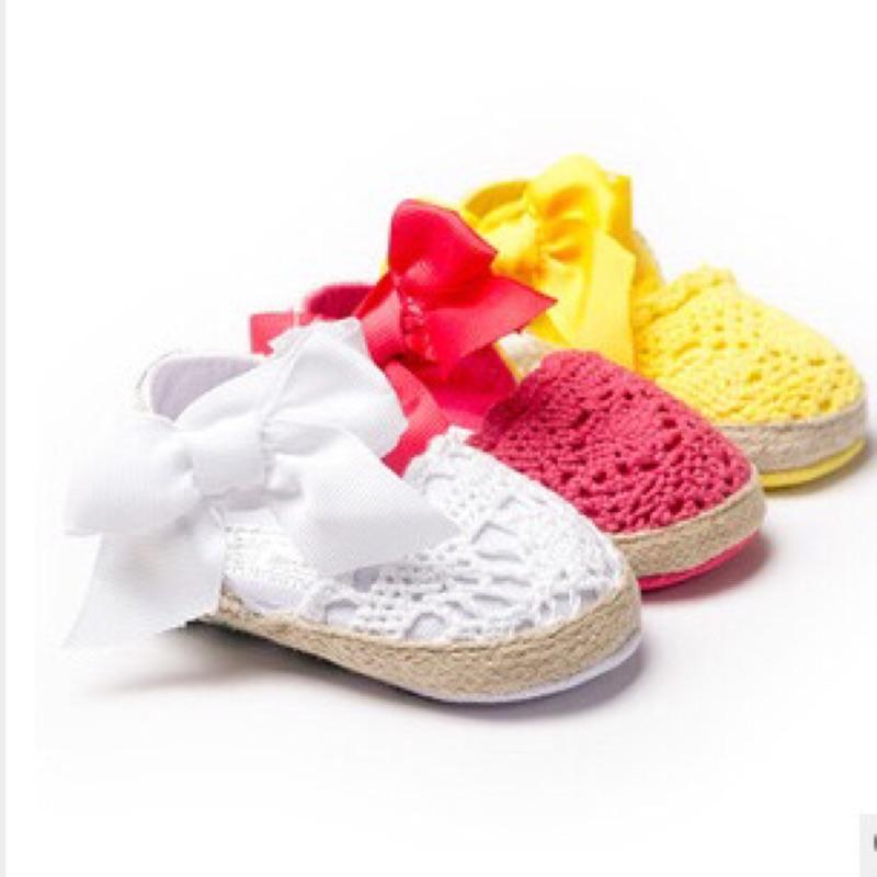 曈曈Baby 款~超 寶寶拍照攝影公主鞋綁帶蝴蝶結女童鞋外貿鞋嬰兒鞋軟底鞋蕾絲寶寶學步鞋可