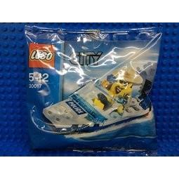 必買站  樂高LEGO 30017 City 城市Police Boat 警察遊艇