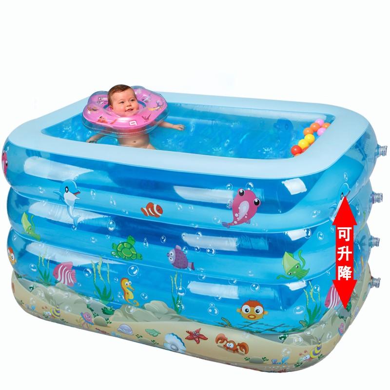 嬰兒遊泳池加高加厚保溫寶寶戲水池超大號家庭幼兒童充氣泳池