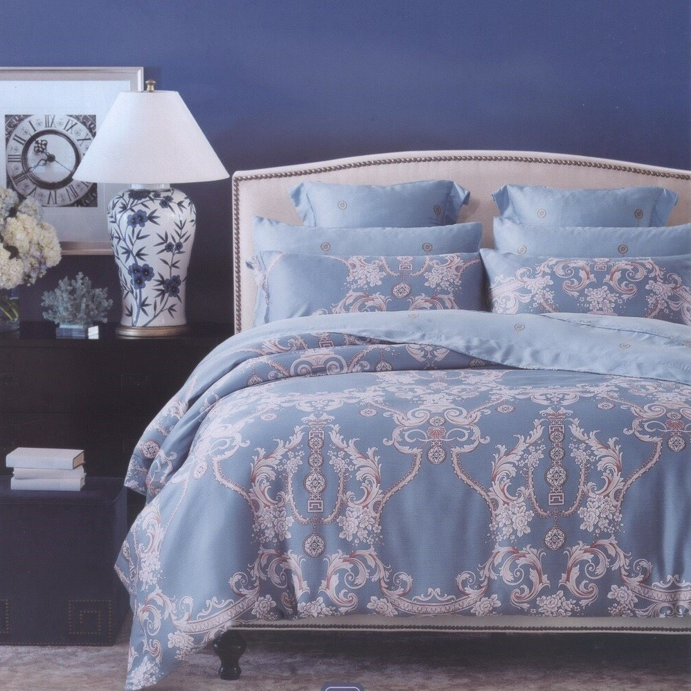 ~超取~艾拉寢飾~優雅~單人雙人加大60 支紗薄床包兩用被四件組100 純天絲加高35CM