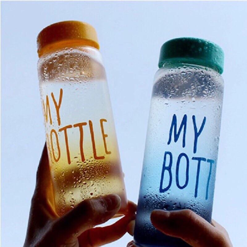 韓國 超 my bottle 玻璃水瓶450ml 露營杯隨手杯便攜杯漸層款四色選