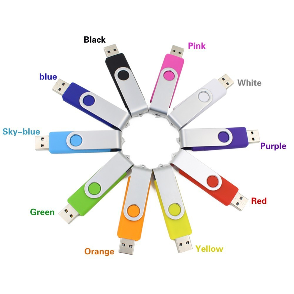 智慧型手機USB 閃存驅動器隨身碟pen drive 4GB 金屬OTG pendrive