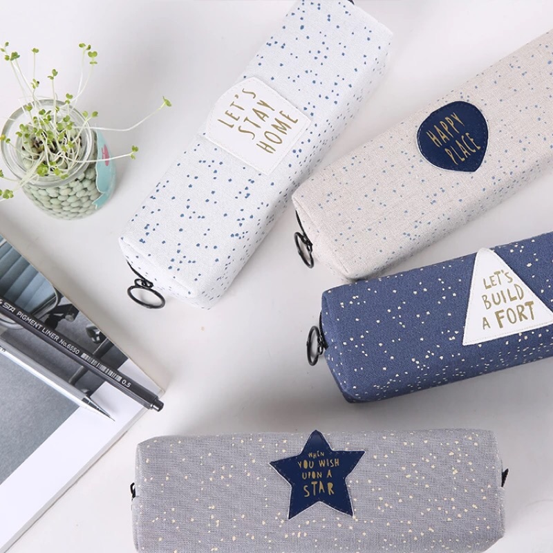 ‼️ ‼️韓國✨ 簡約帆布大容量筆袋小清新文具盒鉛筆盒可愛學生用品