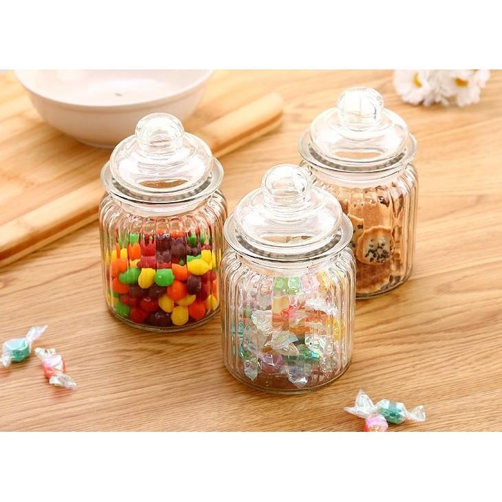 玻璃儲物罐糖果罐茶葉罐玻璃瓶收納230ml 950ml