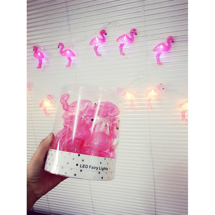 暖光韓風少女心火烈鳥燈串燈泡裝飾燈小鳥布置房間拍照道具小燈