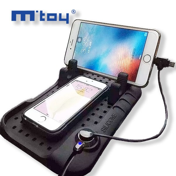 ~AF0032 ~正品M toy 二合一車載磁力吸附手機充電支架車載磁充矽膠止滑墊