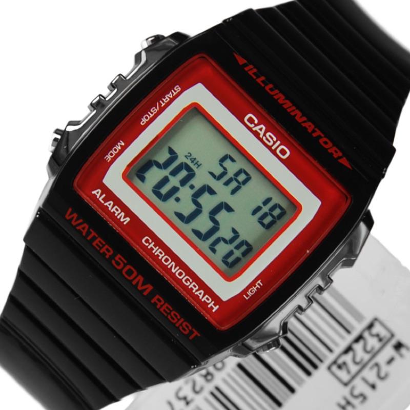 CASIO 方形數字錶大型的液晶錶面防水50 米LED 背光照明1 100 秒計時碼錶W