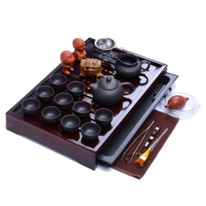 茶具套裝 包郵紫砂茶具陶瓷功夫茶具整套實木茶盤茶海茶道
