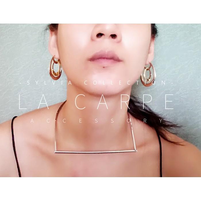 LaCarpe CHERYL 雪柔系列雙水滴耳環 品牌水滴圓圈美式風格2 WAY ~SZ0