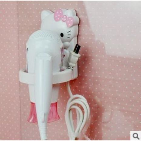 hello Kitty 粘貼吹風機架電吹風架子浴室置物架壁掛風筒架