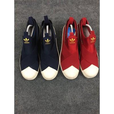 ~美歐 ~正品十字繃帶貝殼鞋ADIDAS SUPERSTAR SLIP ON W 男鞋女鞋
