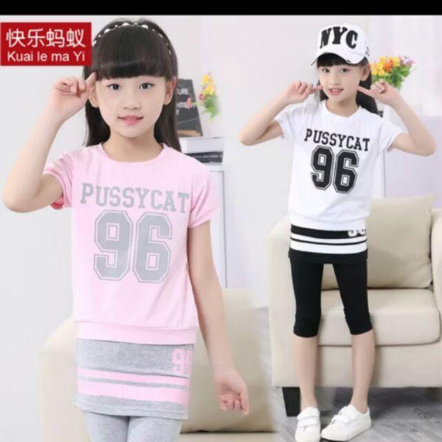 女童夏裝2016 兒童 套裝短袖 大童女裝女孩小孩衣服