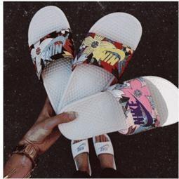 Nike Benassi Swoosh GD 權誌龍nike 拖鞋大勾字母桃紅拖鞋涼鞋沙灘