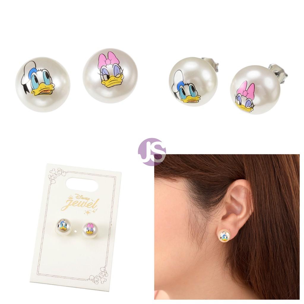 迪士尼大頭唐老鴨黛西珍珠針式耳環