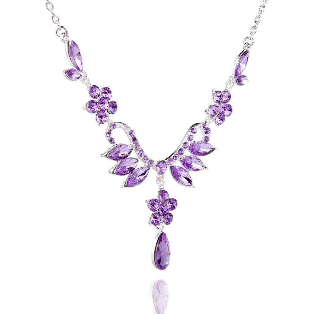 優雅薰衣草紫色首飾
