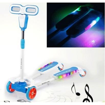 兒童滑板車四輪蛙式剪刀車寶寶滑行扭扭車兒童搖擺車閃光童車