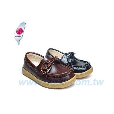 大皮球童鞋館 純 縫製真皮休閒皮鞋
