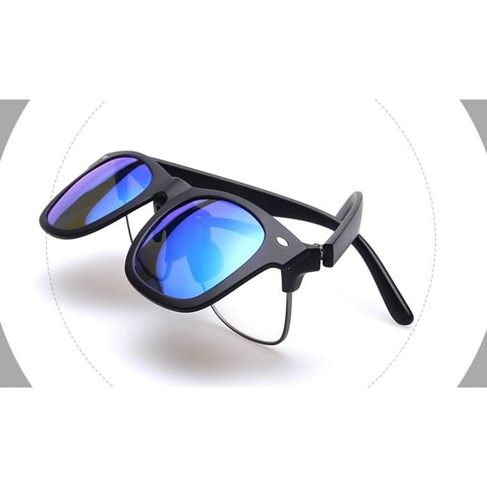 小黃的眼鏡店前掛可掀夾式UV400 偏光太陽眼鏡片復古潮框墨鏡