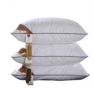 枕芯 護頸頸椎枕純棉防螨酒店枕頭床上用品羽絨枕ZT312  颜色分类白色